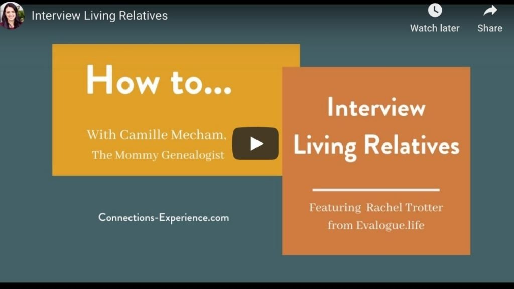 How To Interview Living Relatives