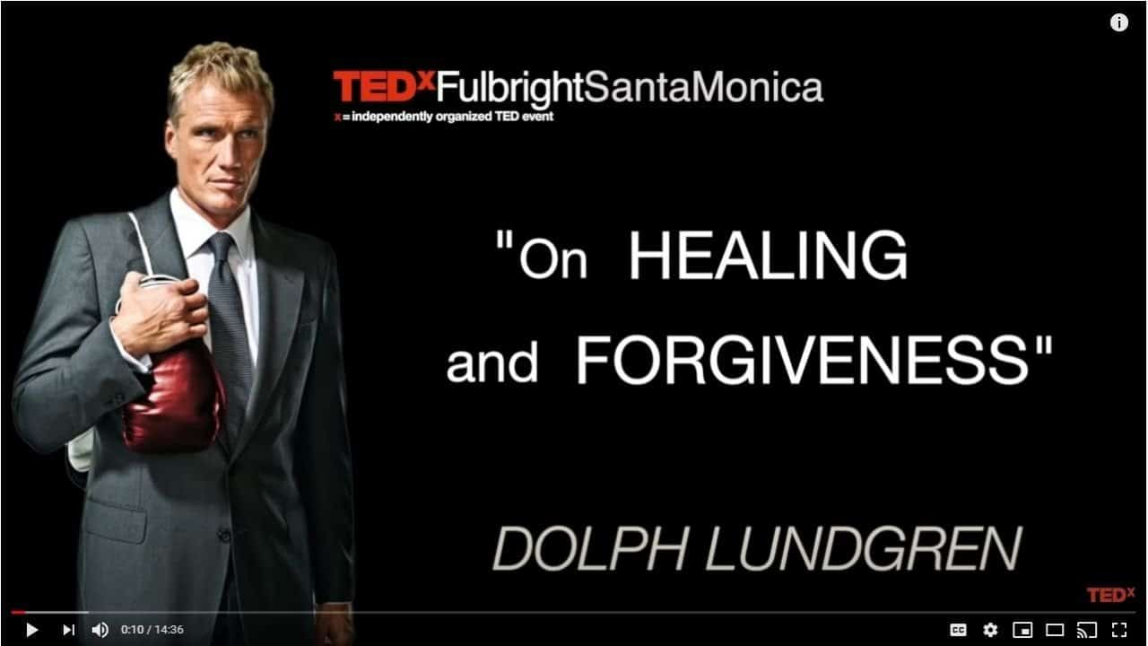 On healing and forgiveness - dolph Lundgren